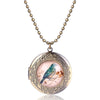 Retro Painted Bird Opened Pendant