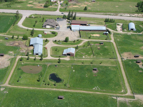 Aerial view of Egli's Sheep Farm and Animal Park