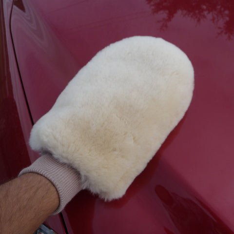 Sheepskin Auto Mitt. Made in Canada by Egli's Sheep farm