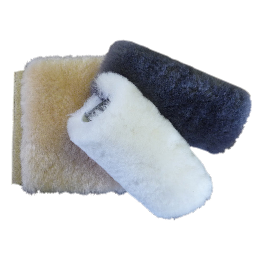 Sheepskin Multi Purpose Strap Cover. Made in Canada by Egli's Sheep Farm