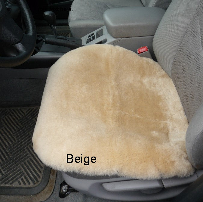 Sheepskin Car Seat Cover. Made in Canada by Egli's Sheep Farm
