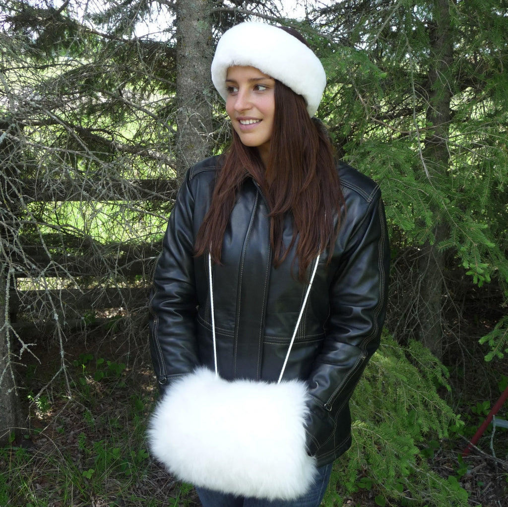 Sheepskin Muff. Made in Canada by Egli's Sheep Farm