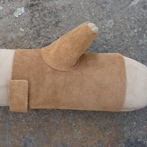 Leather Mitt palm Protectors. Made in Canada by Egli's Sheep Farm