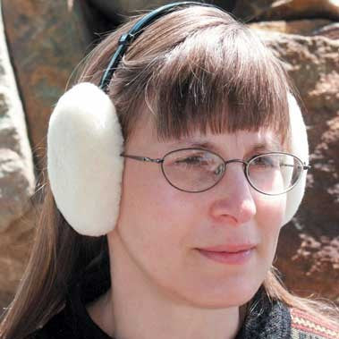 Sheepskin Ear Muffs. Made in Canada by Egli`s Sheep farm.