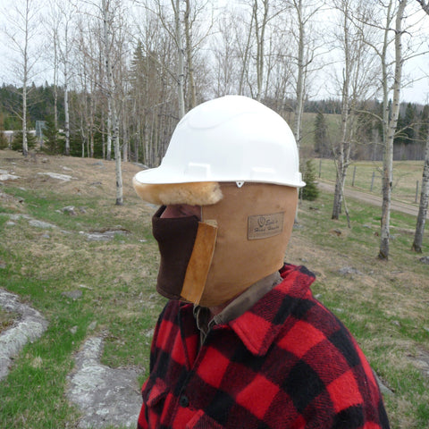 Sheepskin Head Honcho Hard hat liner. Made in Canada by Egli's Sheep Farm
