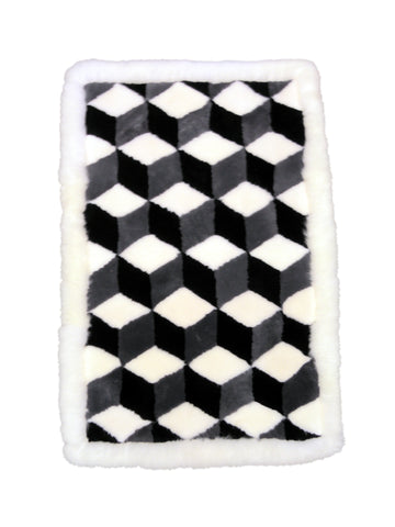 Shearling 3D Cube Rug