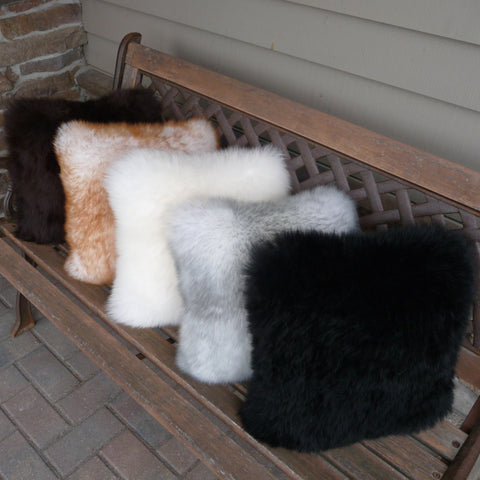 Sheepskin Cushion Pillow. Made in Canada by Egli's Sheep Farm