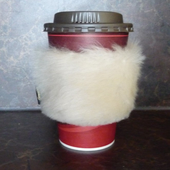 Sheepskin Cup Parka Holder. Made in Canada by Egli's Sheep Farm