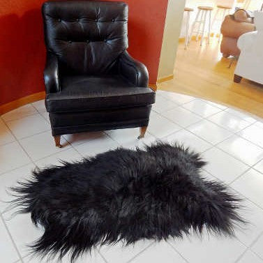 Long Wool Icelandic Sheepskin Rug.