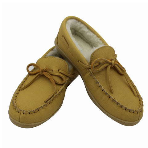 Sheepskin Lined Moosehide Moccasins