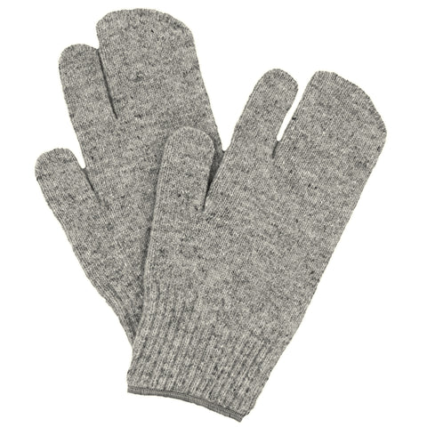 Wool One Finger Mitt Liners