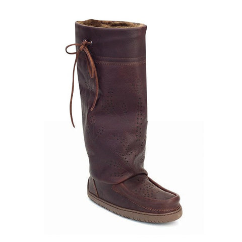 Women`s Tall Gather Mukluk Leather with Sheepskin insole