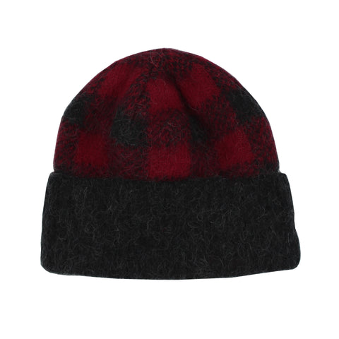 Icelandic Toque - Double Cuffed Checked