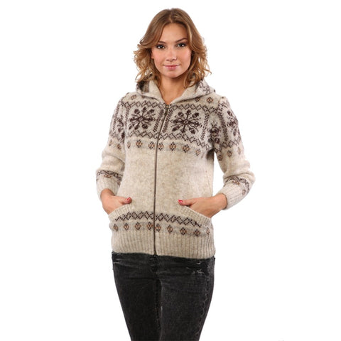 Unlined Zippered Cardigan with Hood - Women's