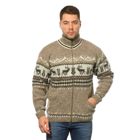 Zippered Turtleneck Cardigan - Men's