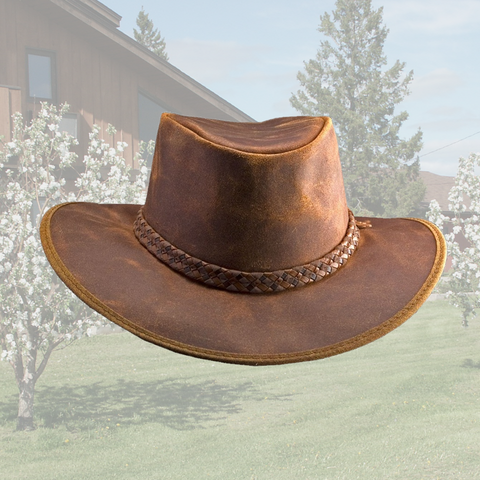Crusher Oiled Leather Hat