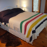 100% Wool Multistripe Point Blanket made by Hudson`s Bay Company