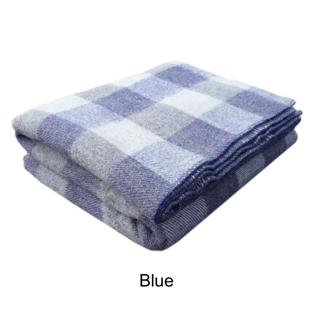 MacAusland's Checkerboard Wool Blanket