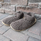 100% Wool Leather Sole Slippers. Made in Canada.