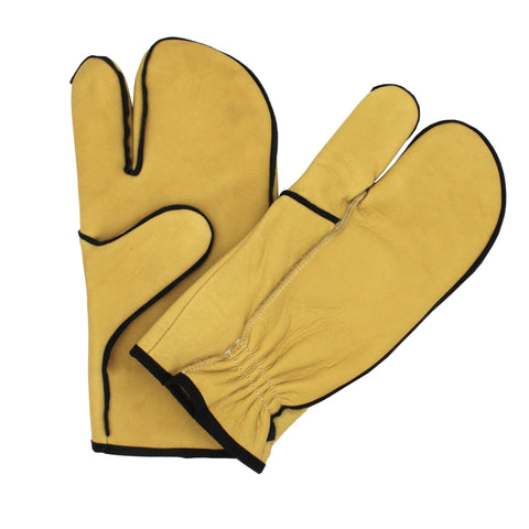 One Finger Leather Mitts