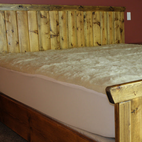 Wool Mattress Overlay with Skirting