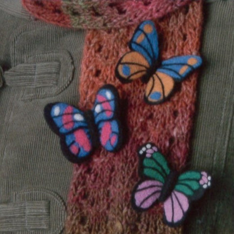 Butterfly Brooch Needle Felting Kit