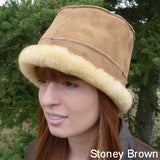 Sheepskin Laura Hat. Made in Canada by Egli's Sheep Farm