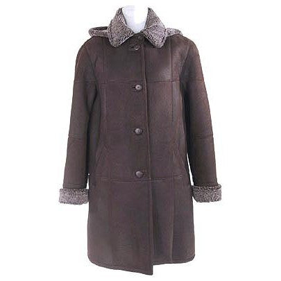 Women's Sheepskin Tulane Nappa Coat.