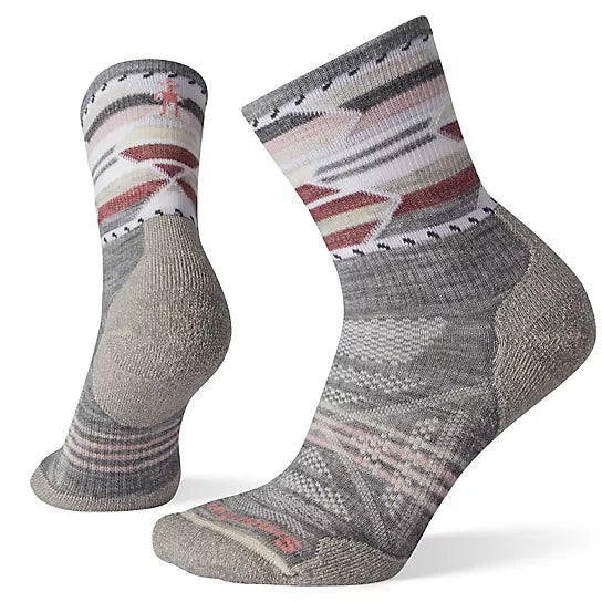 Wms PhD Outdoor Light Pattern Mid Crew Socks