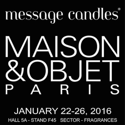 message candles Maison&Objet