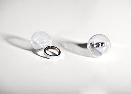 Glass Bubble Ring by Gentner Design