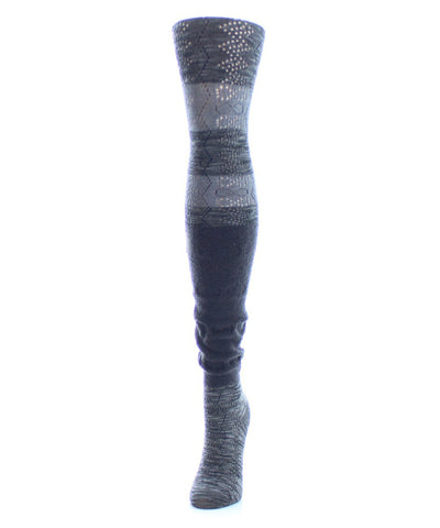 Stripe Slouch Sweater Tights - MeMoi - 1
