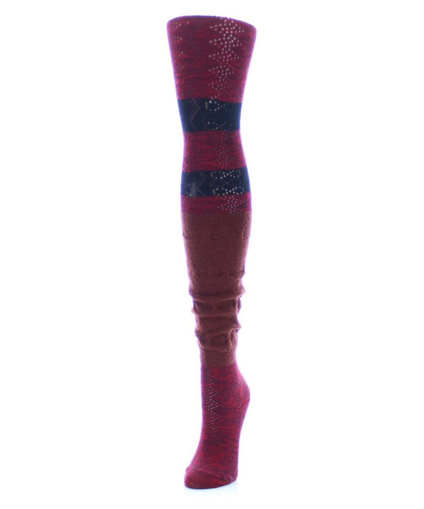 Stripe Slouch Sweater Tights - MeMoi - 2