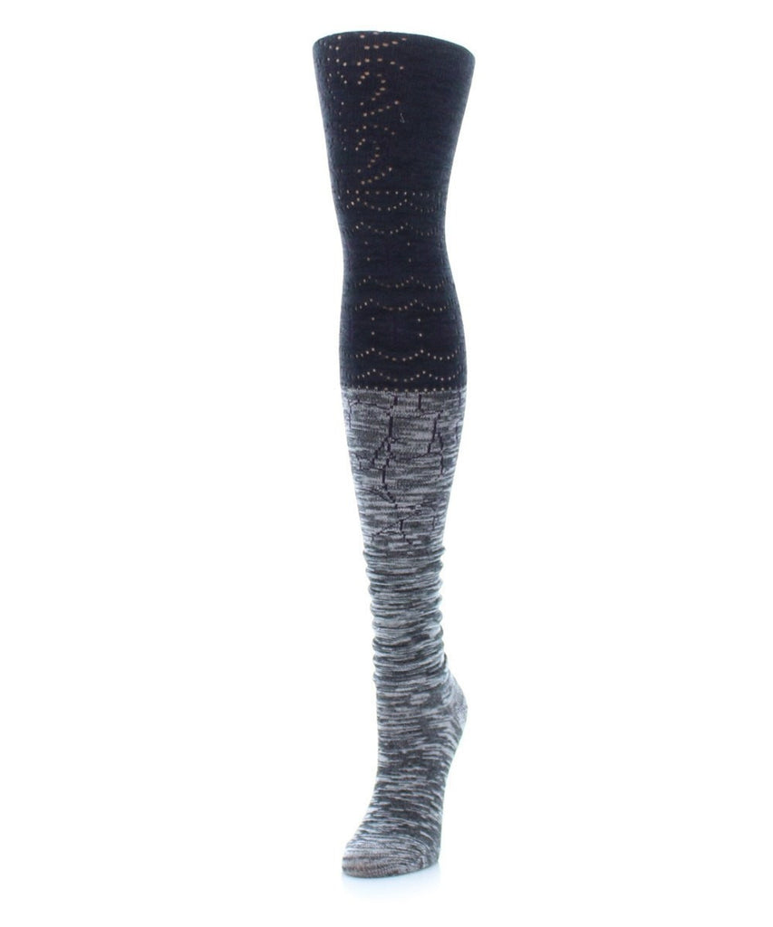 Scallop Blend Sweater Tights - MeMoi - 3