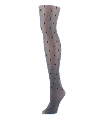 Flocked Dot Tights - MeMoi