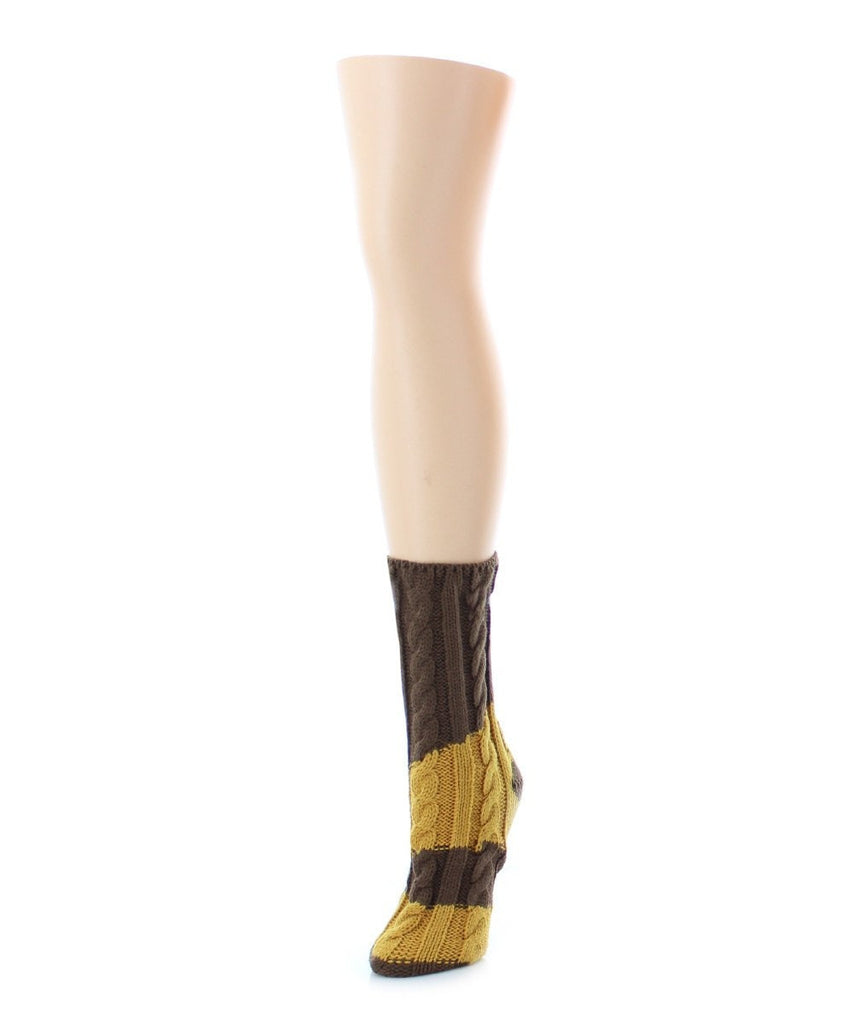 Color Swish Chunky Knit Boot Sock - MeMoi - 4