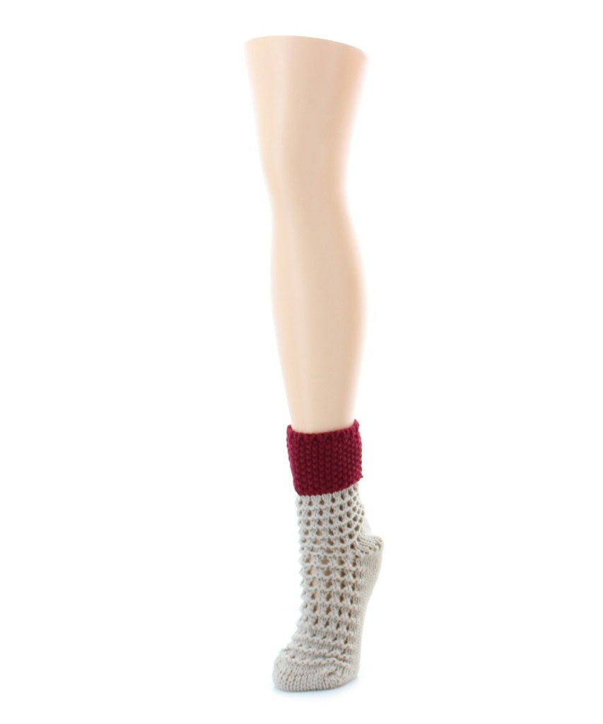 Box Weave Chunky Knit Boot Sock - MeMoi - 1