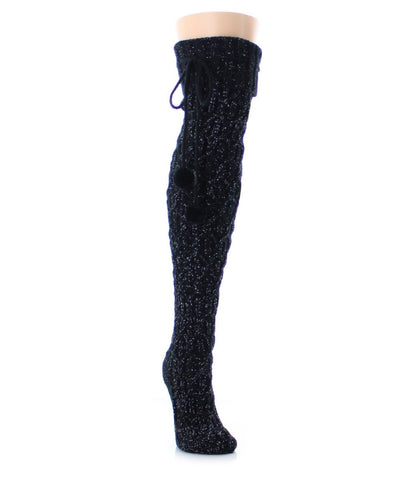 Interdiamond Chunky Knit Over The Knee - MeMoi - 1