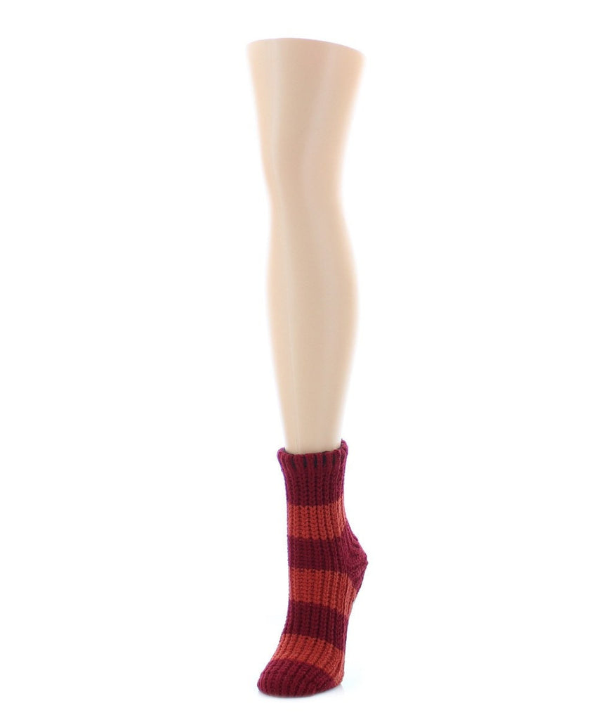 Wide Stripe Chenile Sock - MeMoi - 3