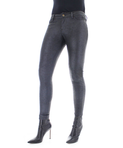 Metallic Shimmer Fashion Black Leggings Pants
