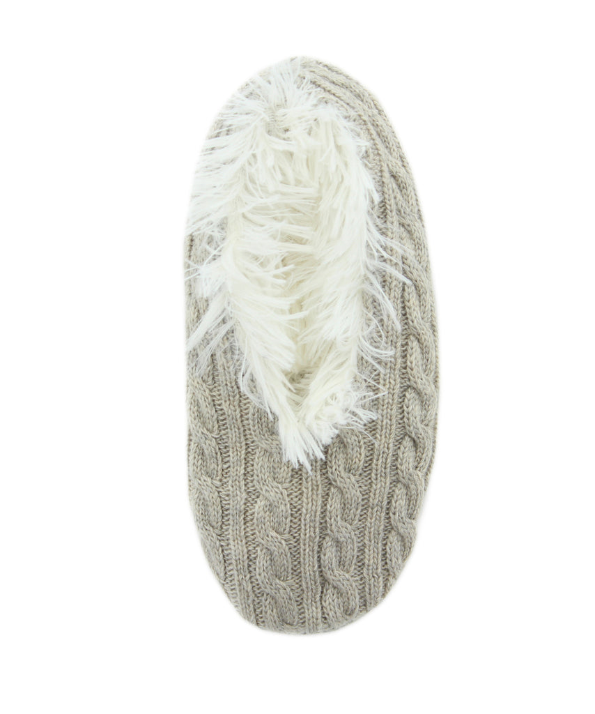 Cable Knit Low Cut Womens Slippers I Teen Slippers Legmogue