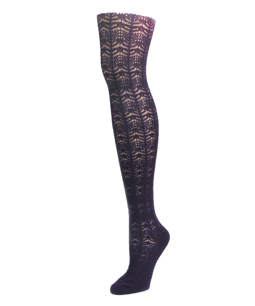 Expanded Crochet Cashmere Blend Tights - MeMoi - 2