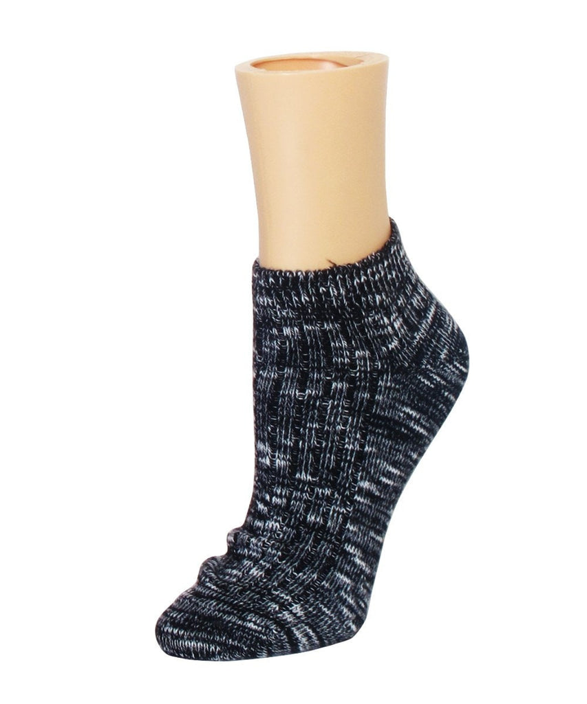 Rib Space Low Cut Running Super-Fit Cotton Socks - MeMoi - 1