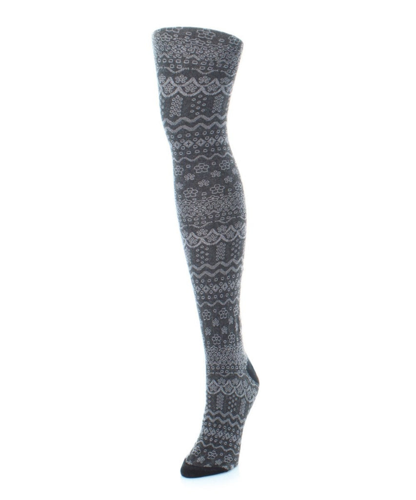 Fairisle Frost Sweater Tights - MeMoi - 2
