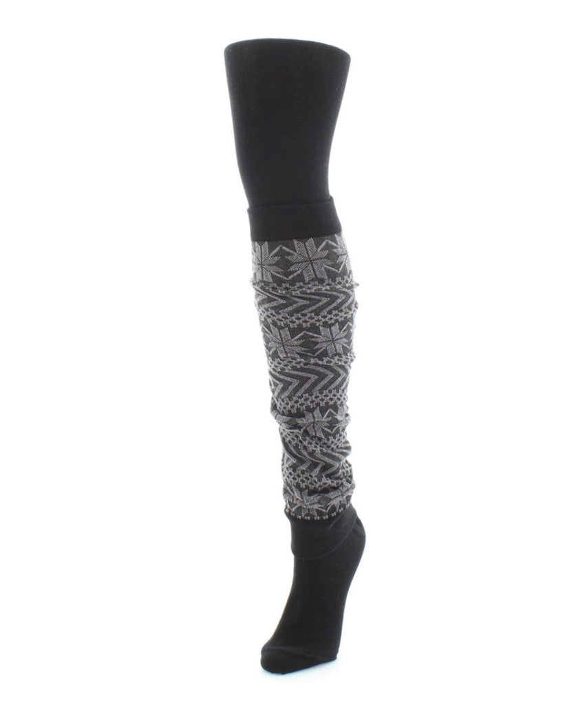 Snowflake Legwarmer/Flatknit Sweater Tights - MeMoi - 2