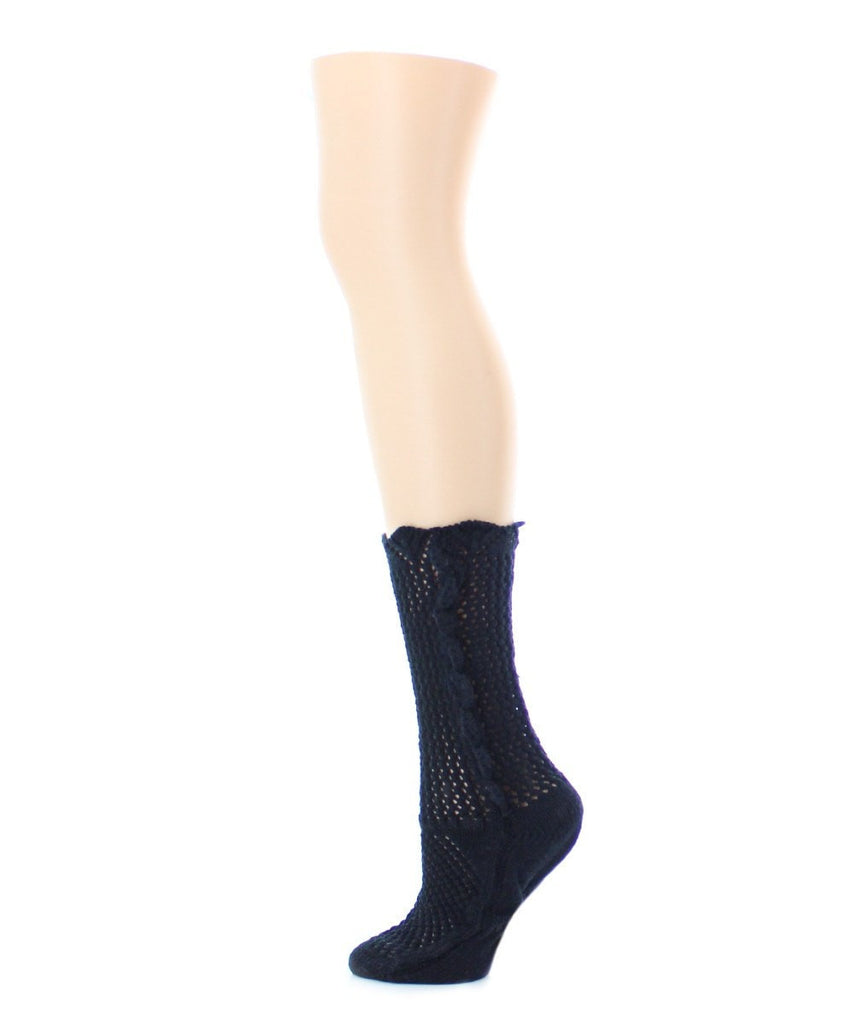Scallop Side Chunky Knit Boot Sock - MeMoi - 2