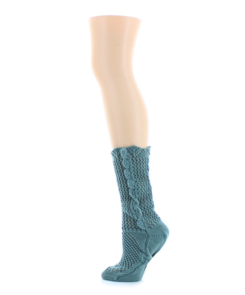 Scallop Side Chunky Knit Boot Sock - MeMoi - 4