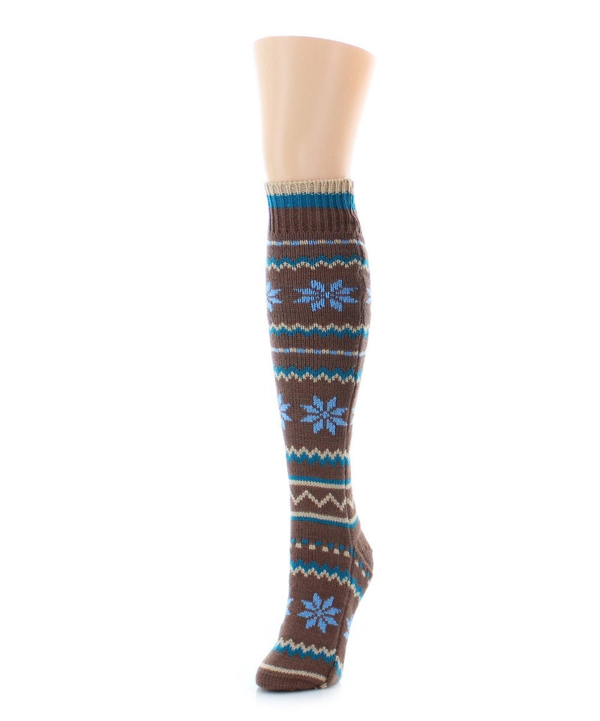 Flaketion Knit Knee-High Flower Socks - MeMoi - 3
