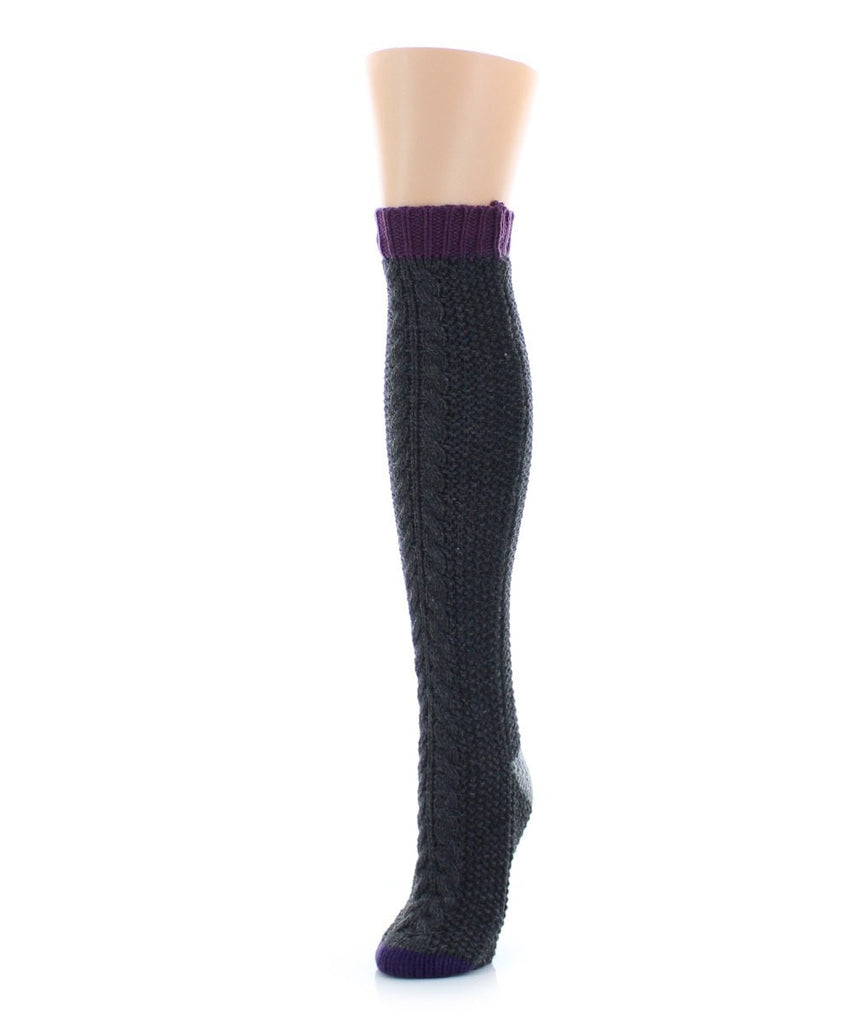 Toe Tone Chunky Knit Knee High - MeMoi - 3