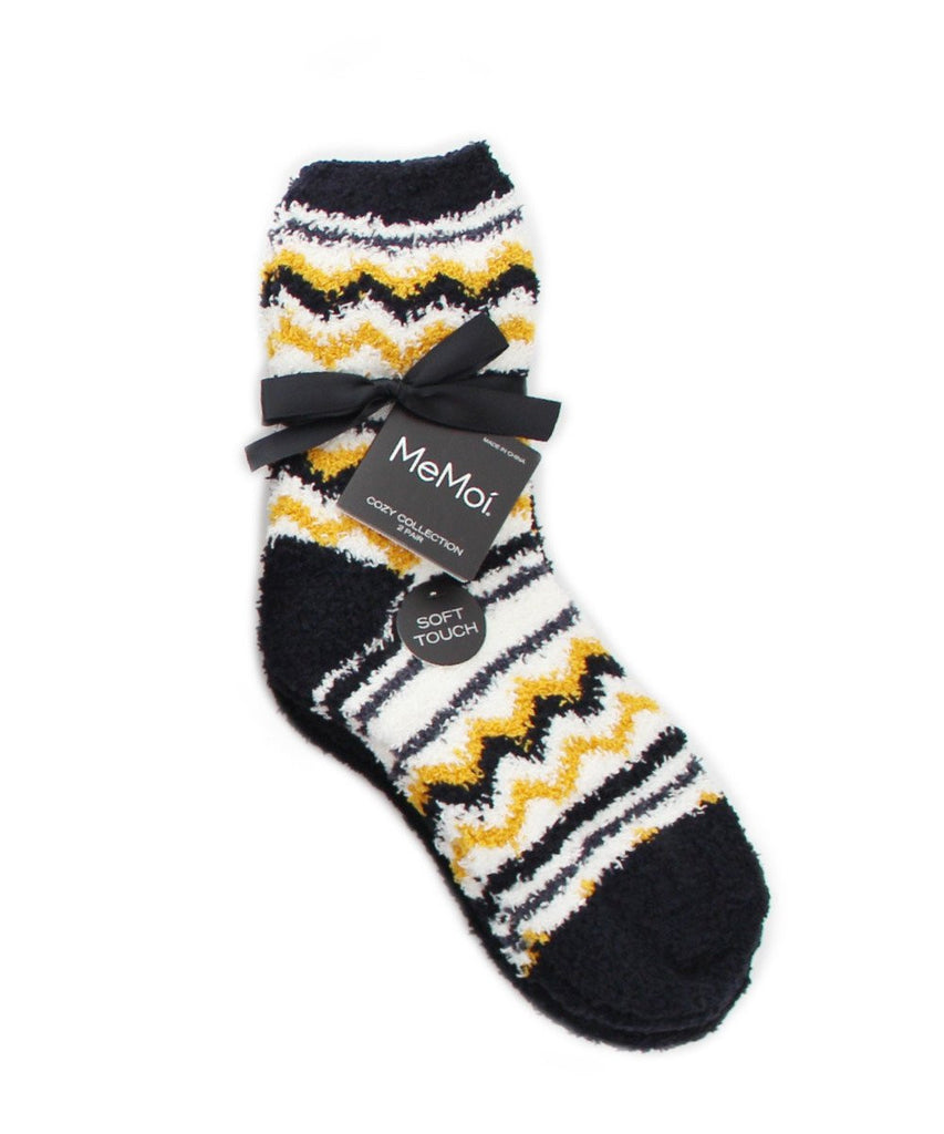 Chevron/Solid Cozy Collection 2 Pair Pack - MeMoi - 2